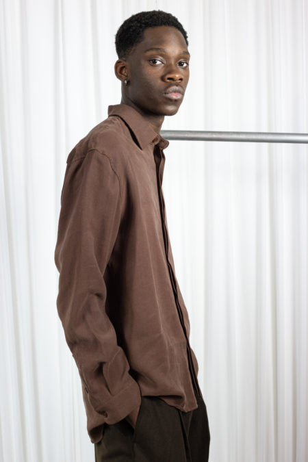 All Over men's shirt  brown