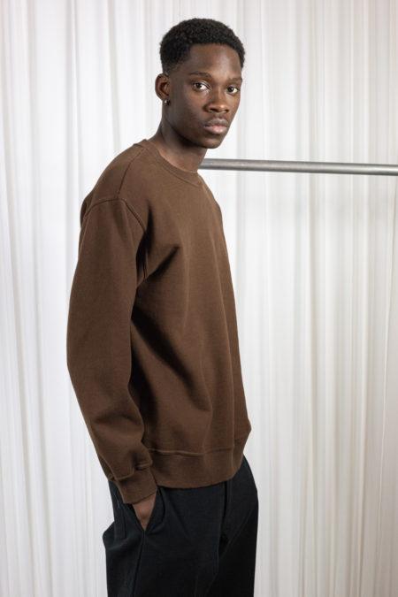 Reddish Brown mens sweatshirt brown
