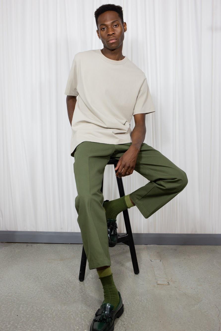 organic beige tshirt