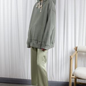 Statement womens hoodie green