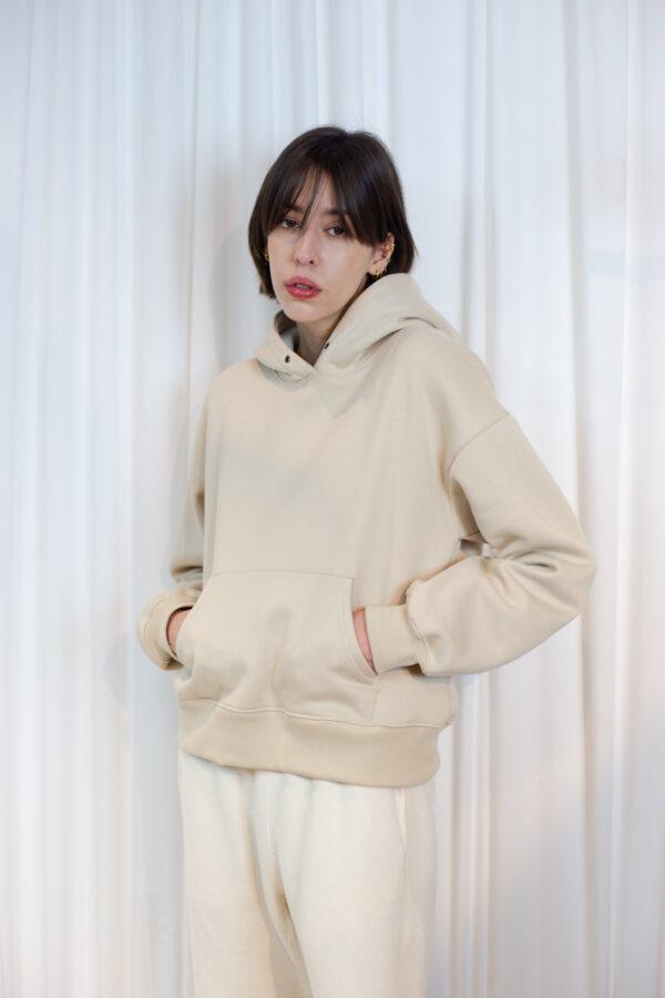 Cream womens hoodie