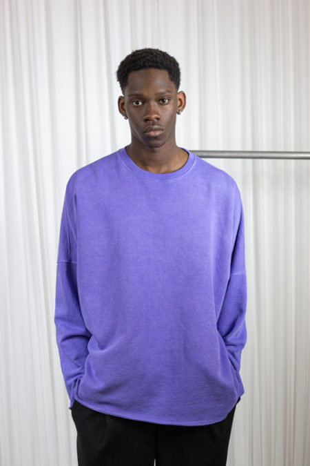 Washed men's t-shirt purple