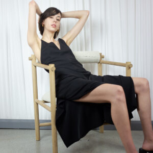 Junn J Black V Neck Dress