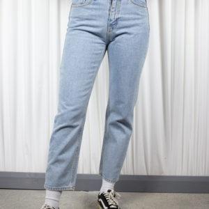 Washed Blue Denim Pants