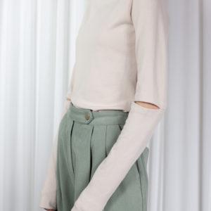 Hong Women's Long Sleeve Shirt - Beige