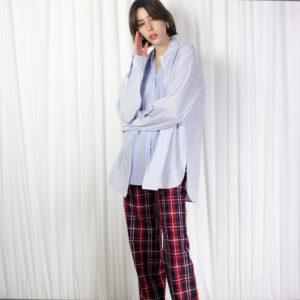 Junn J Stripe Long Sleeve Layered Shirt