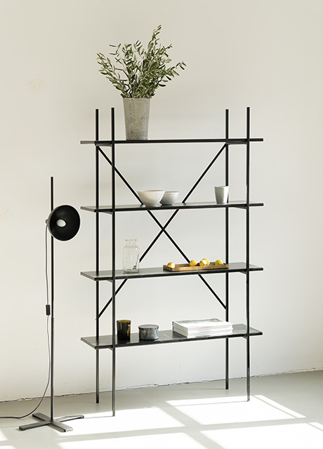 Industrial Marble and Steel Shelf by Nuts and Woods