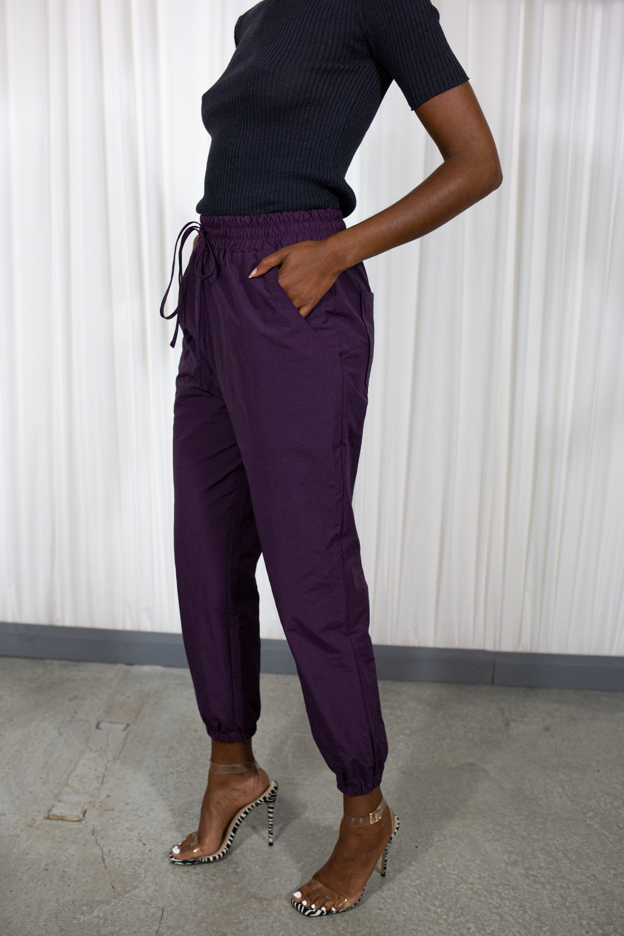 101 moon Wind Jogger Pant Purple