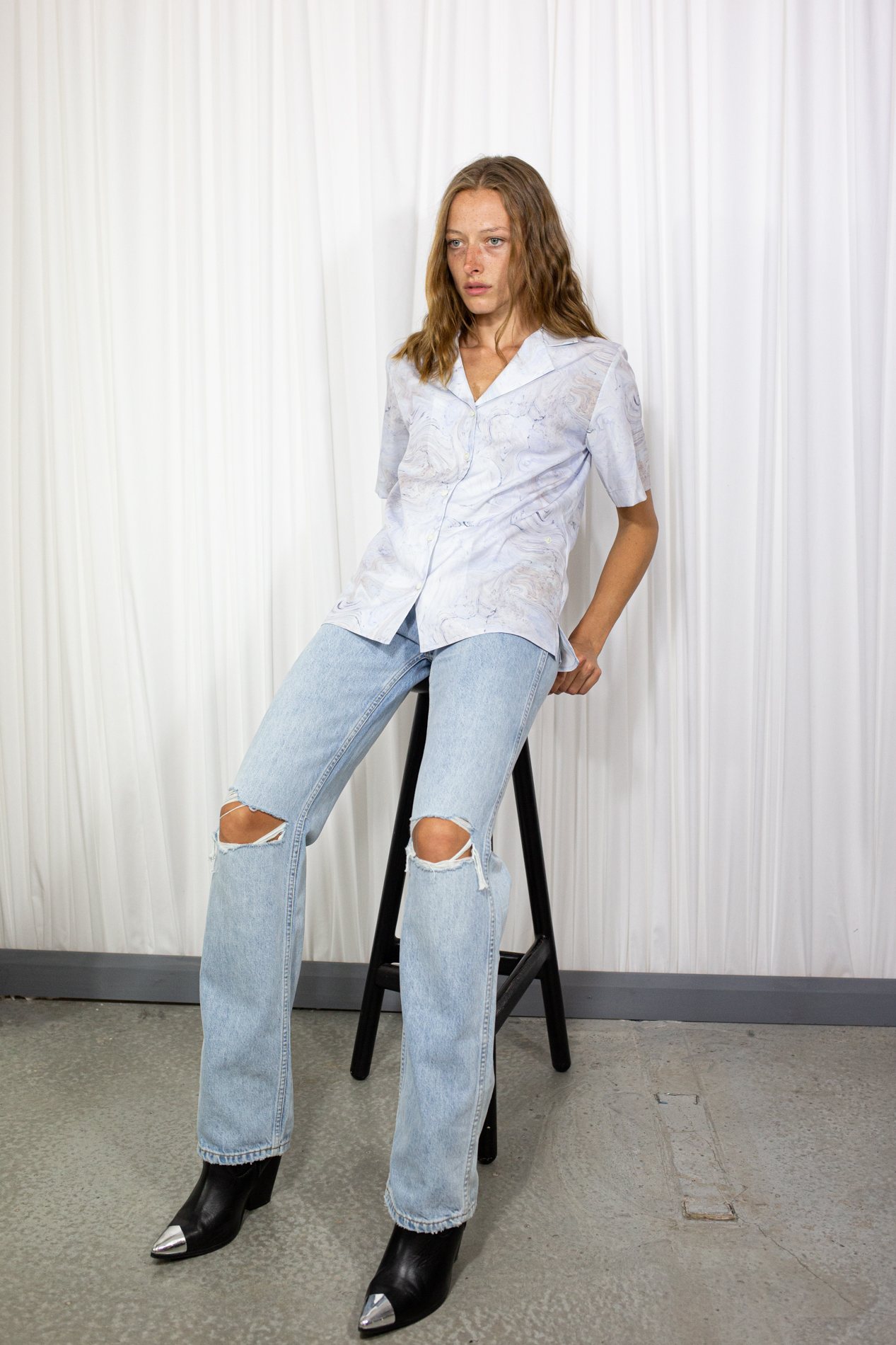 RedOne Original High Rise Ripped Jeans