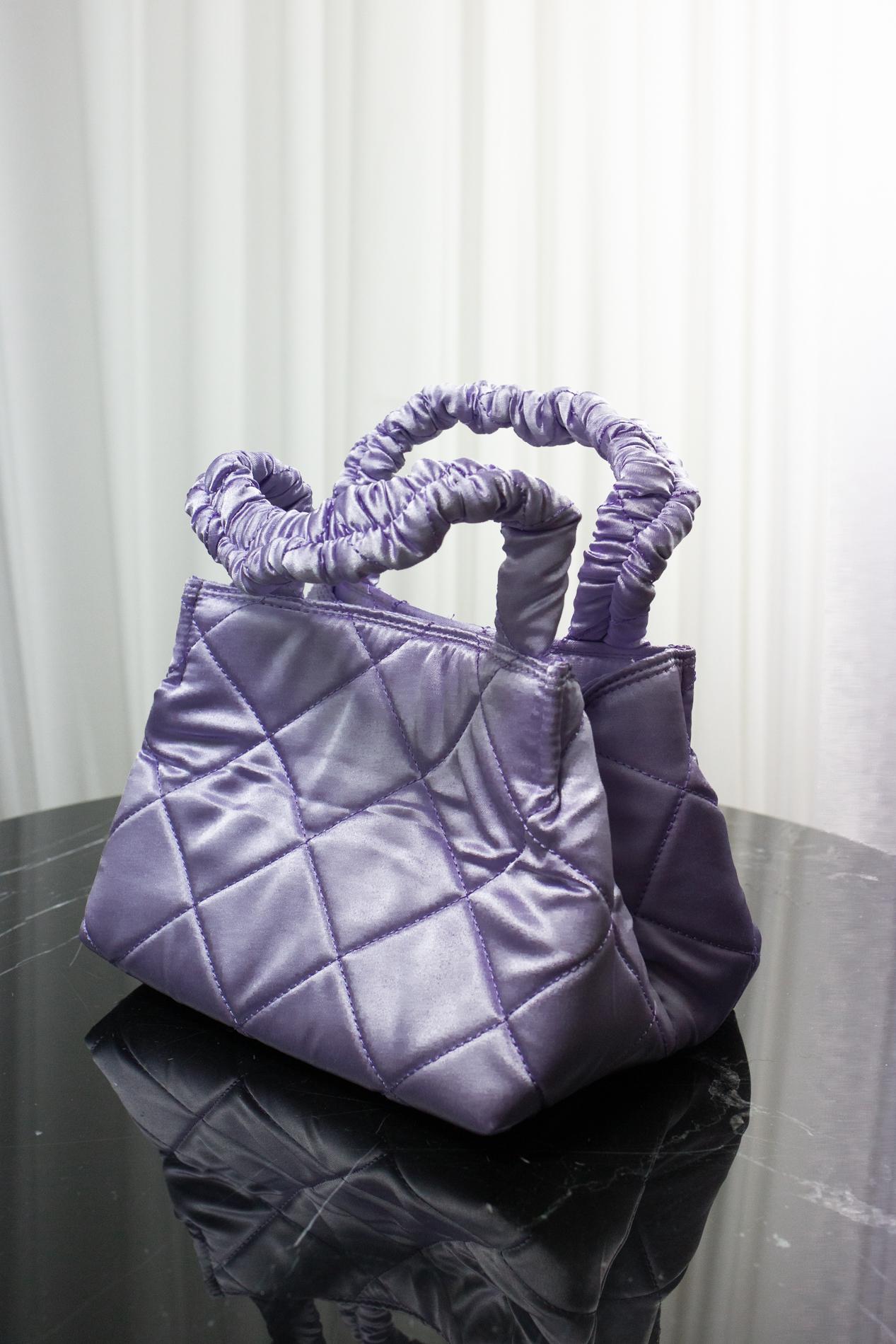 Satin Bag Purple