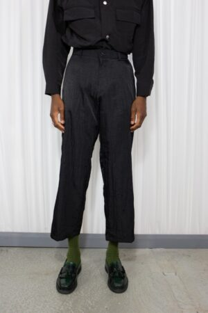 Wrinkle Biz Wide Pants Black