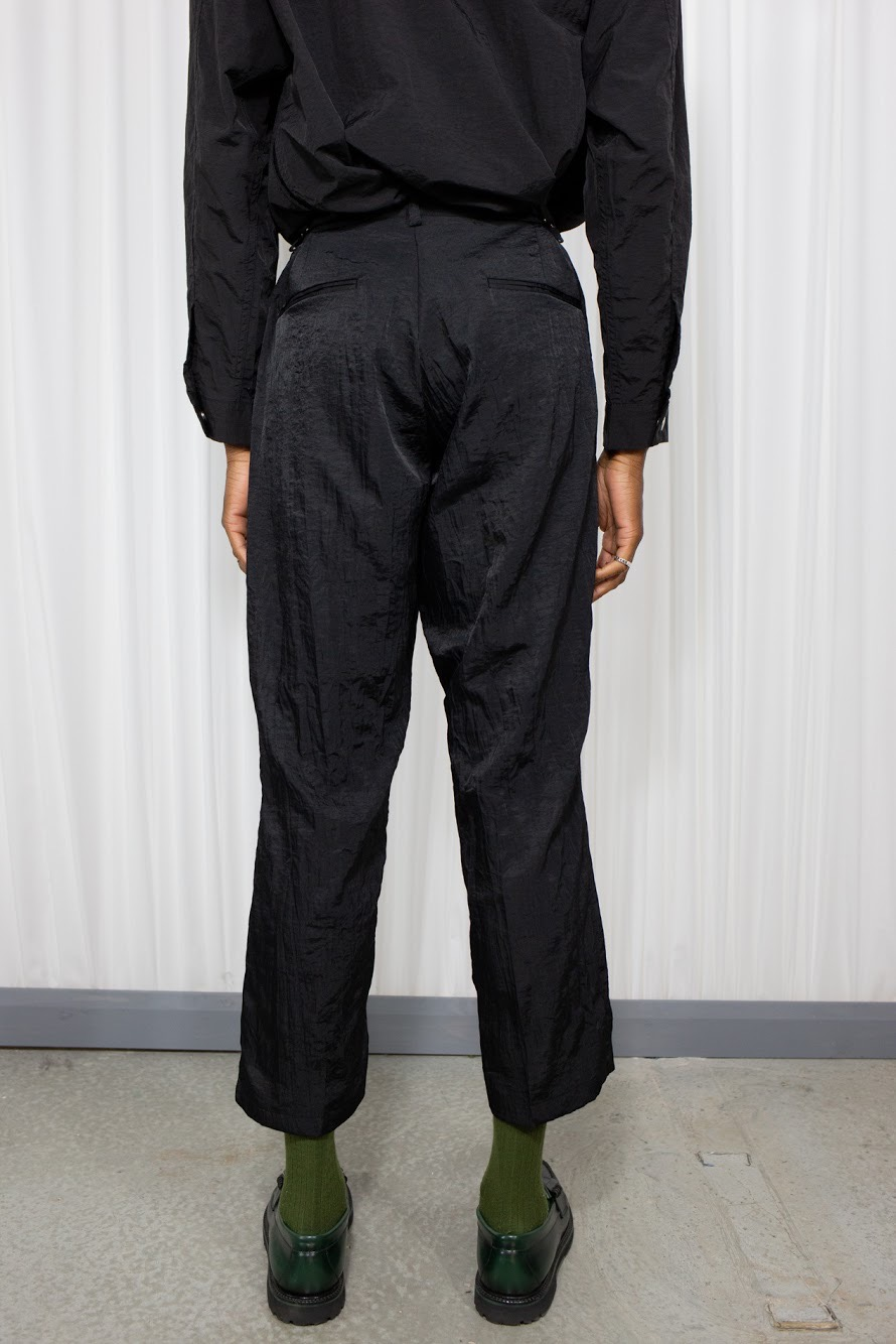 Wrinkle Biz Wide Pants Black