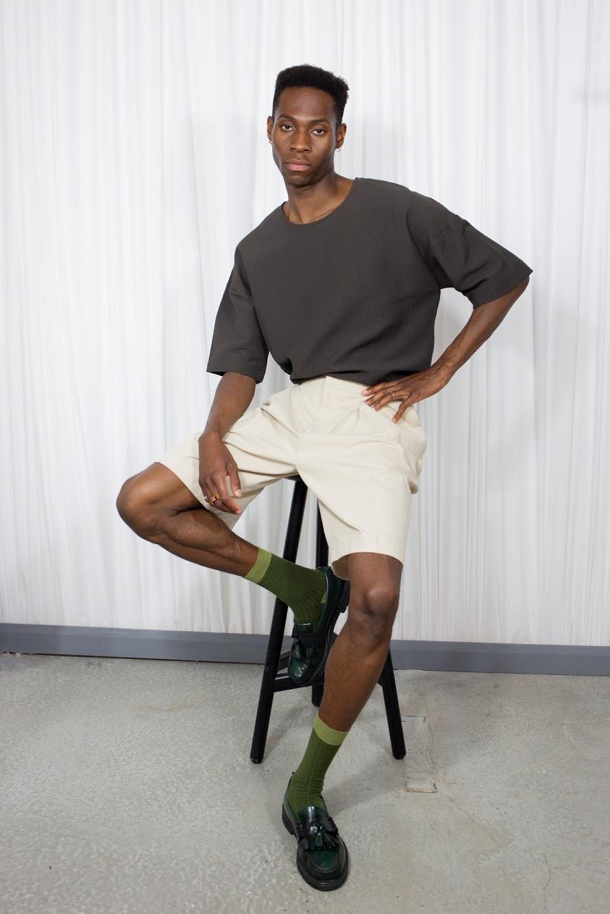 Wide Shorts Beige