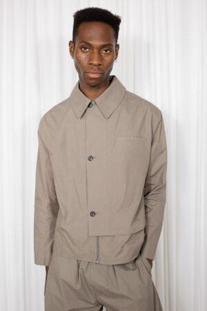 Overrap Shirt Jacket Cocoa