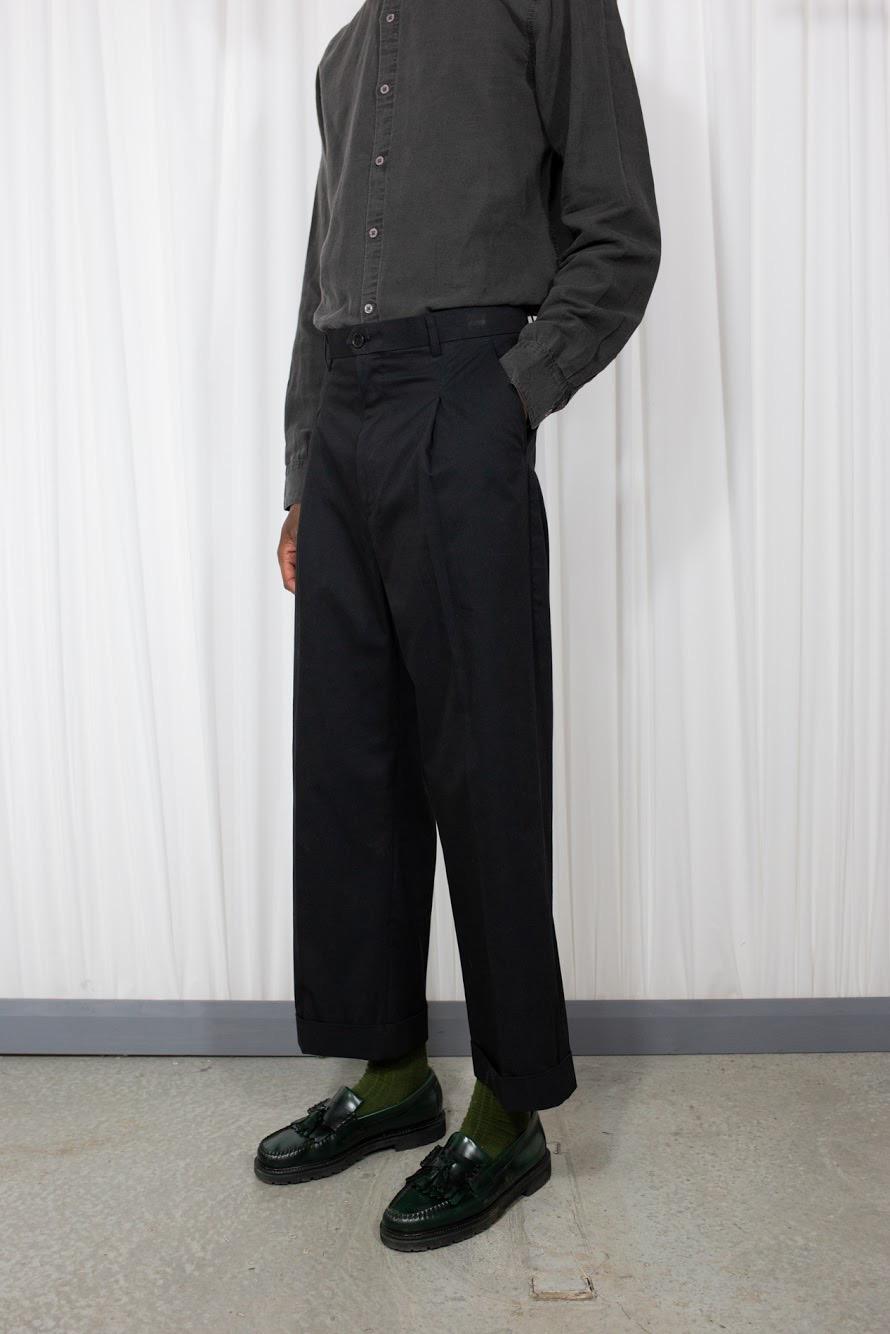 Linen Minimal Pant Black
