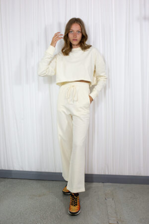 Cream Wide Pants by 101 moon