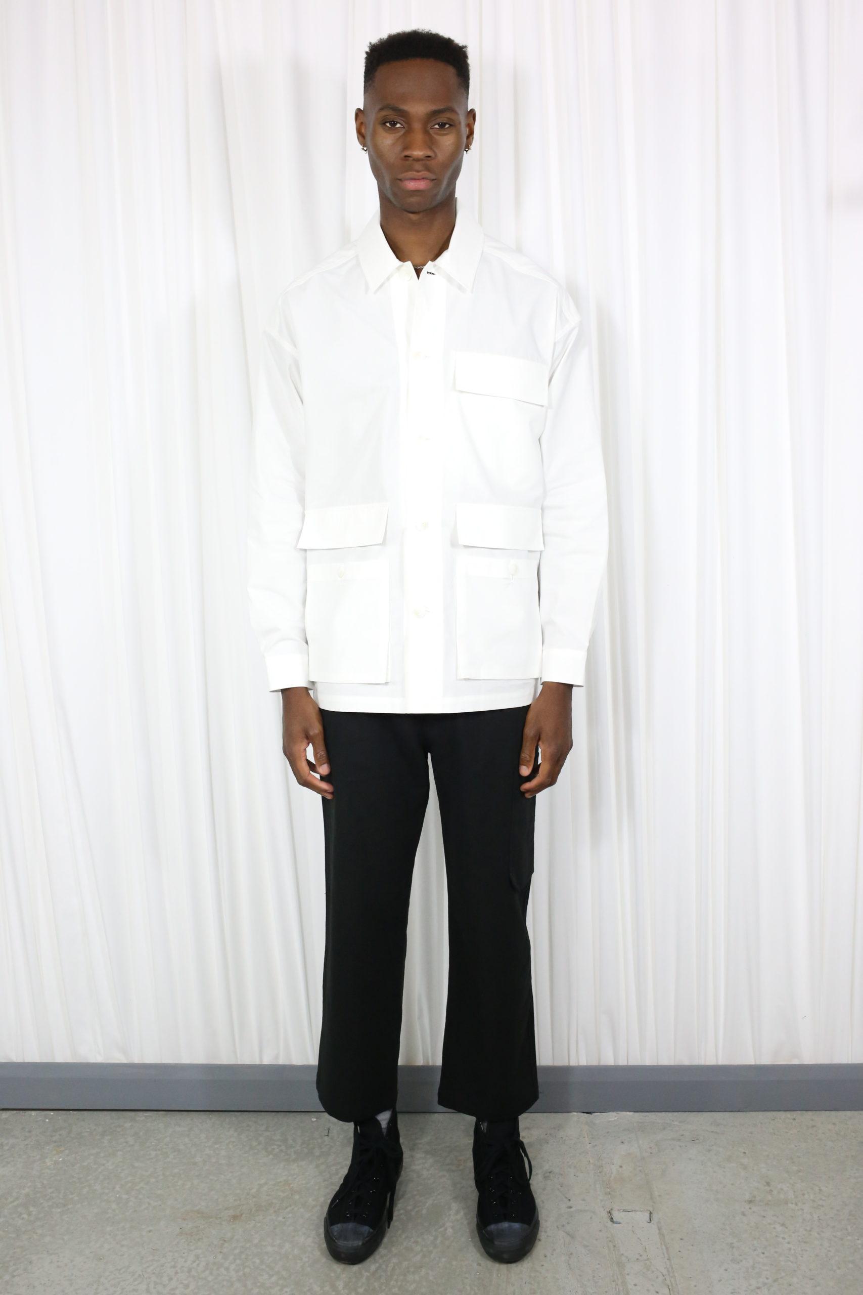 Lown Shirt Jacket white