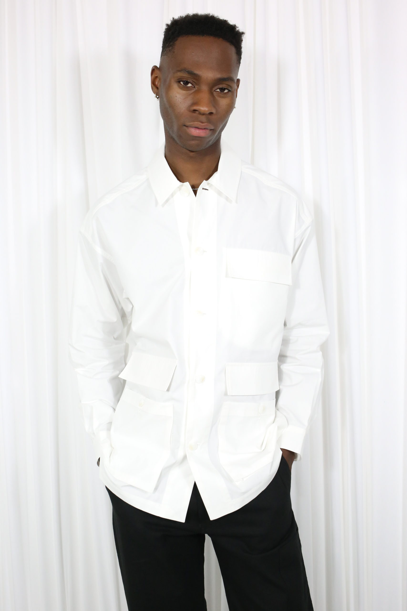 Lown Shirt Jacket white