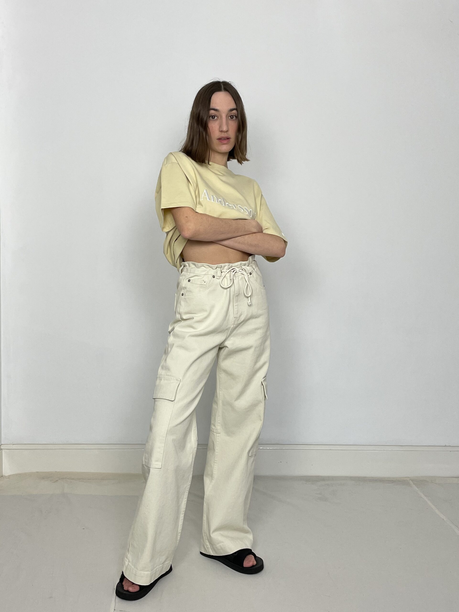 Are You cream cargo pants
