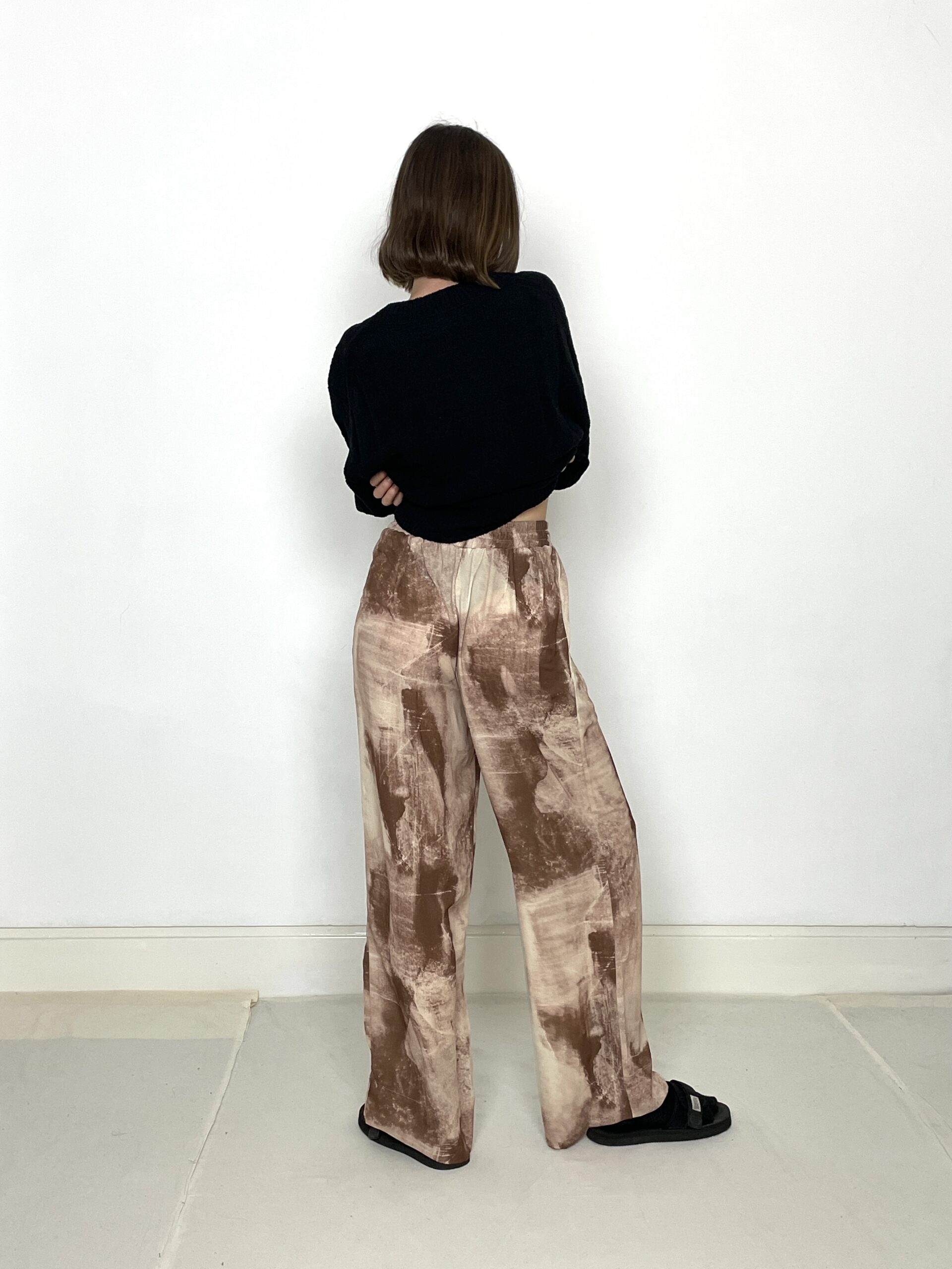 Are You Storm Tie Dye Pant Brown