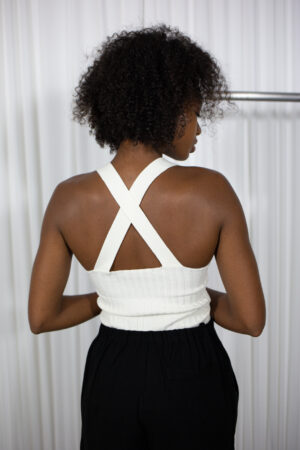 BarBar X Sleeveless Top in Ivory
