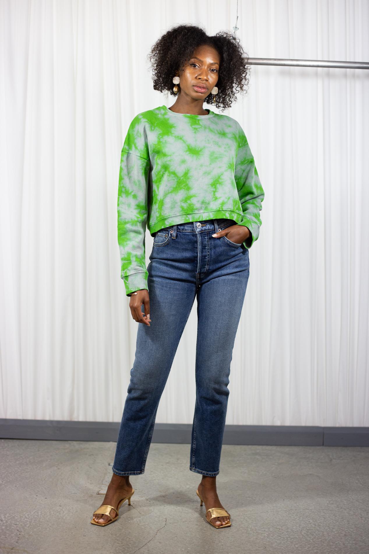 Green Tie Dye Jumper