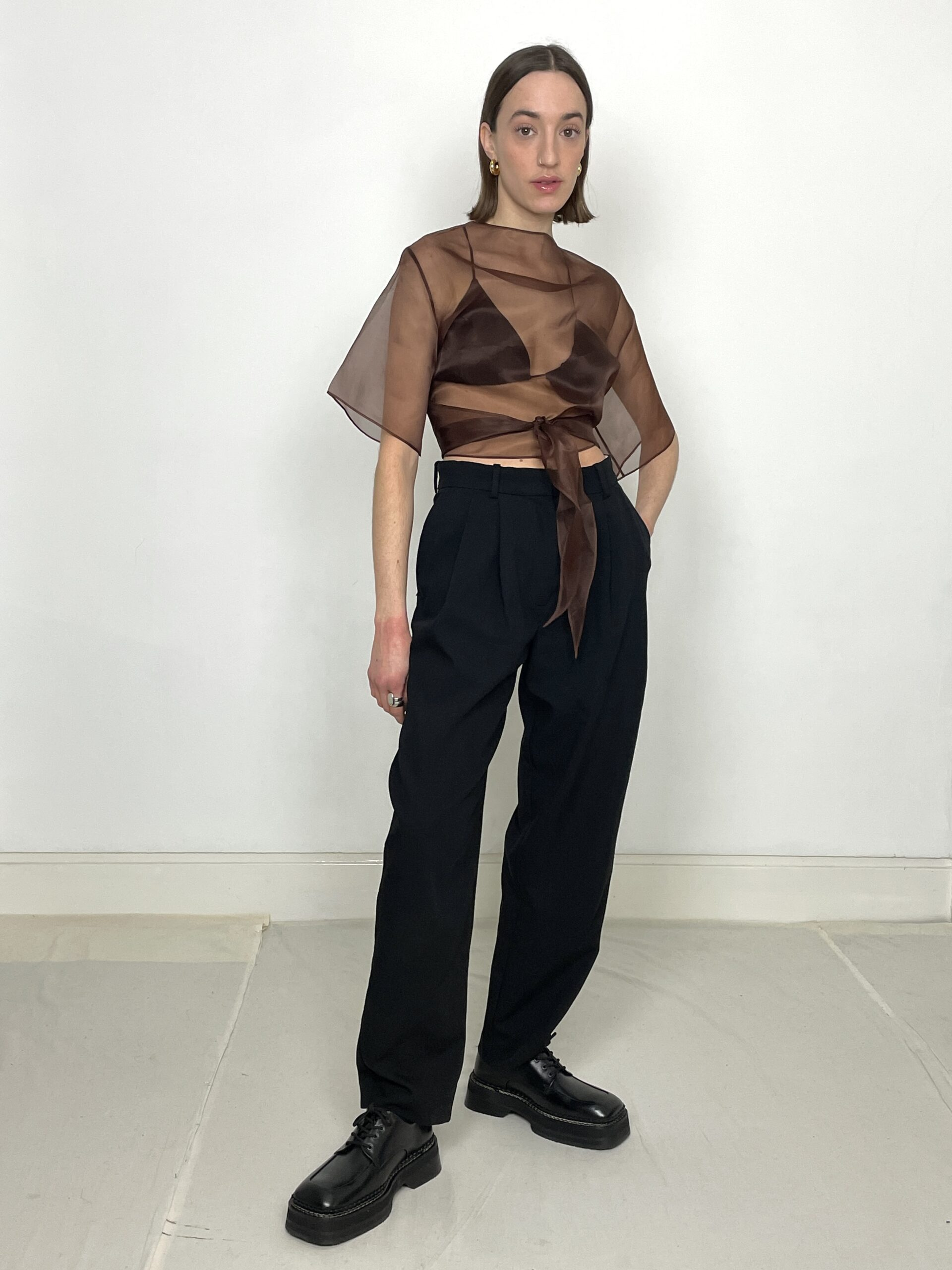Statement Piory Top Brown