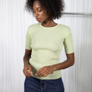 Round Knit Top Lime by Table