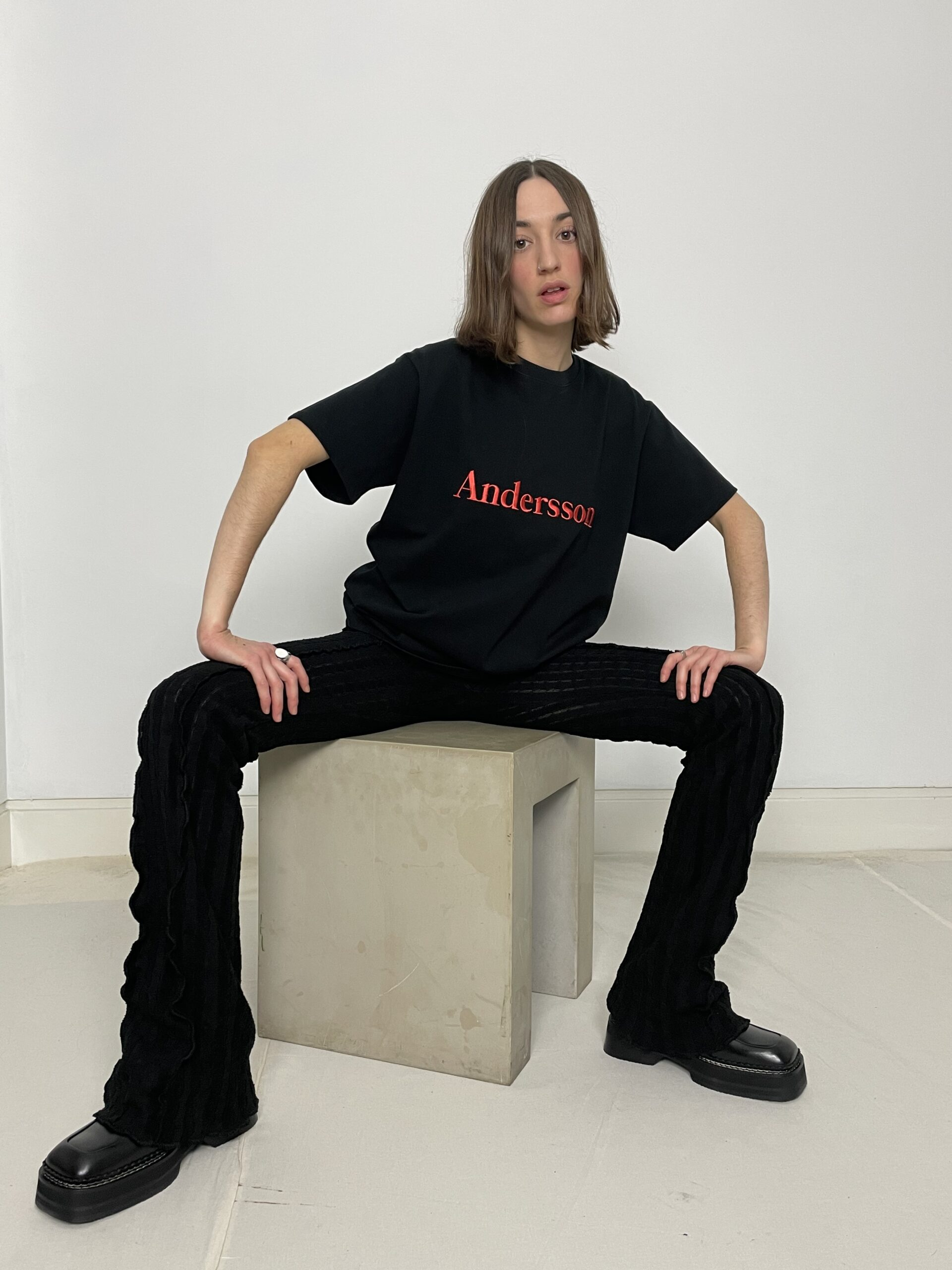 Andersson Bell embroidery tee black