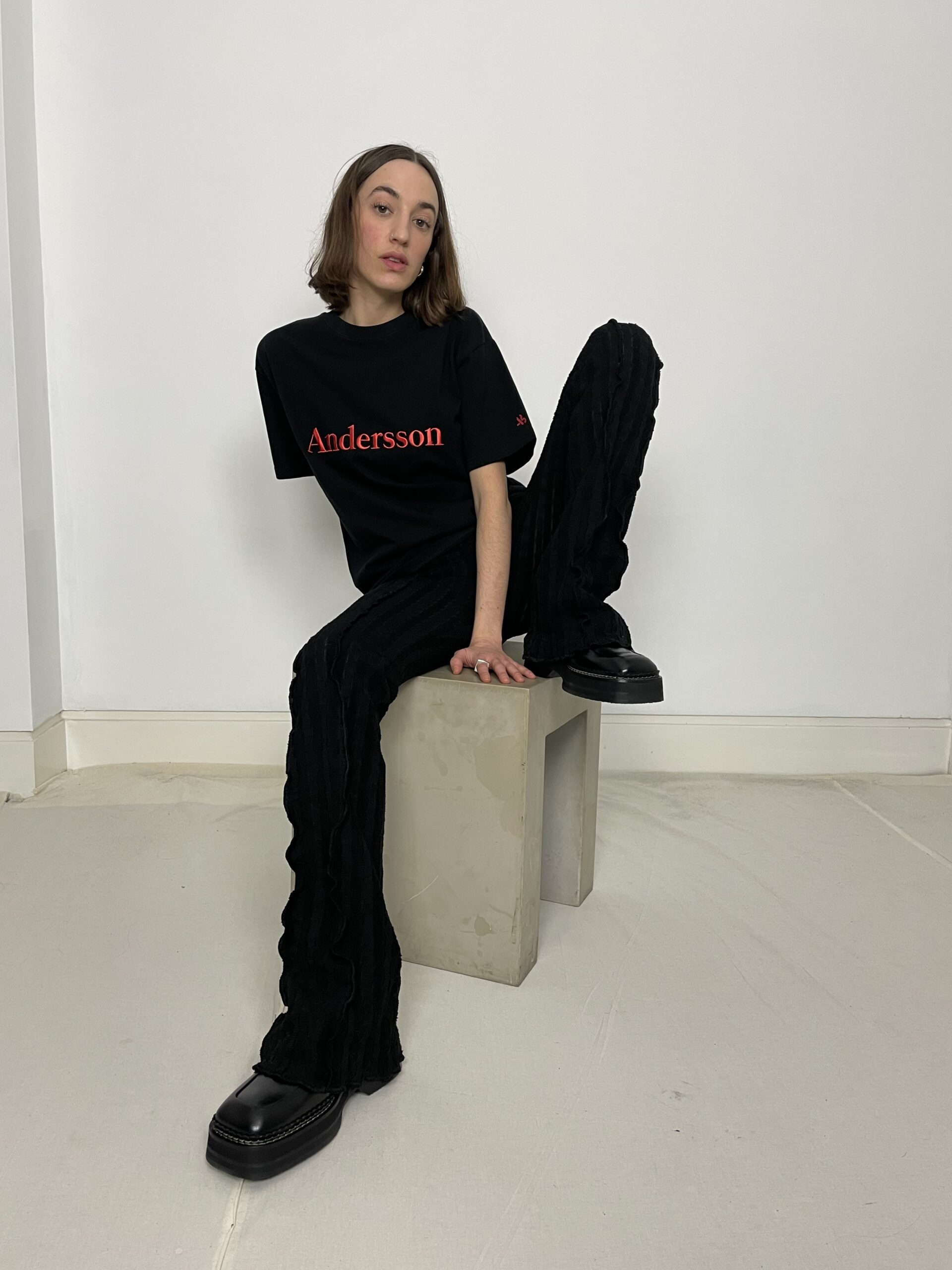 Anderson Bell embroidery tee black