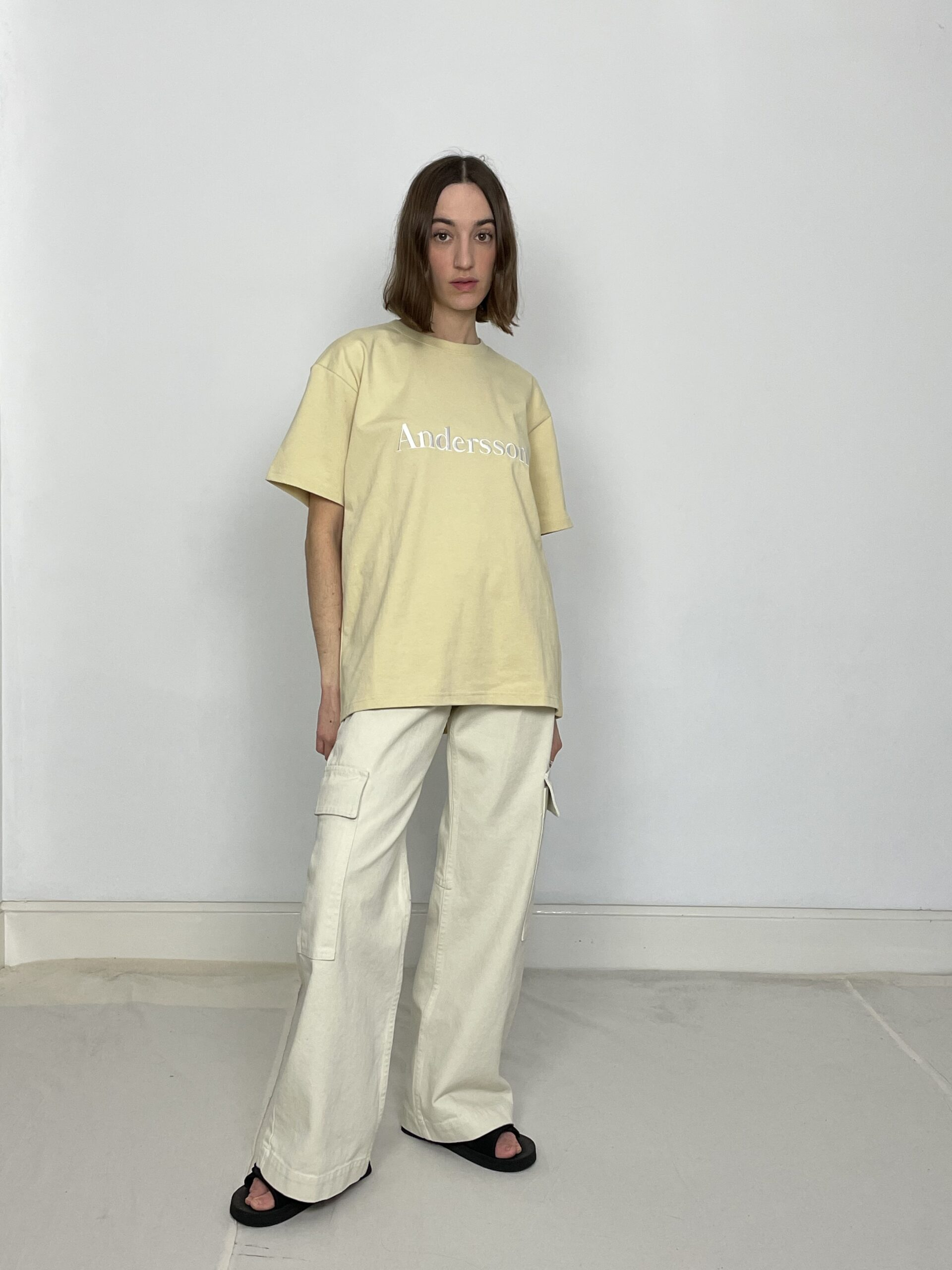 Andersson Bell embroidery tee in cream