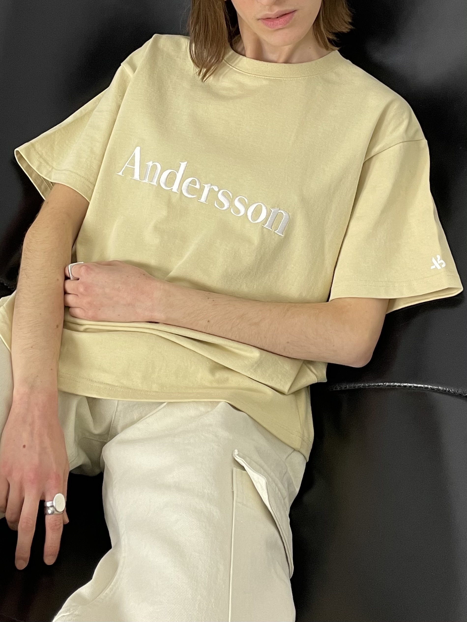 Andersson Bell embroidery tee cream