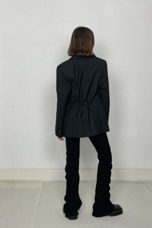 Cafe Noir cinch blazer black