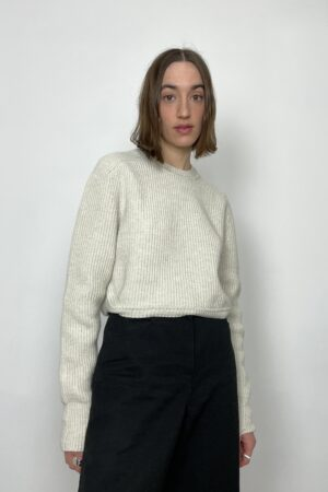 Table Line Short Knit Cream