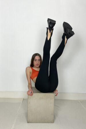 Table Slit Leggings Black